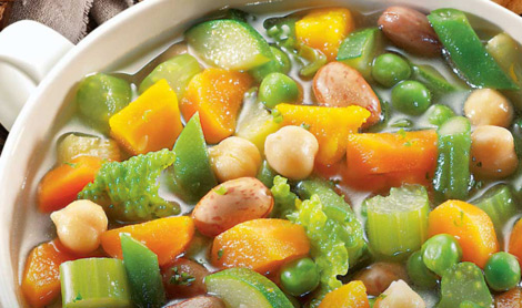 Delicious vegetable soup