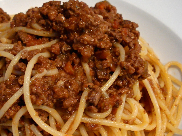 Spaghetti With meat Ragù