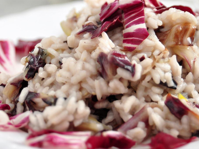 Rice With Red Radish And Blue Cheese
